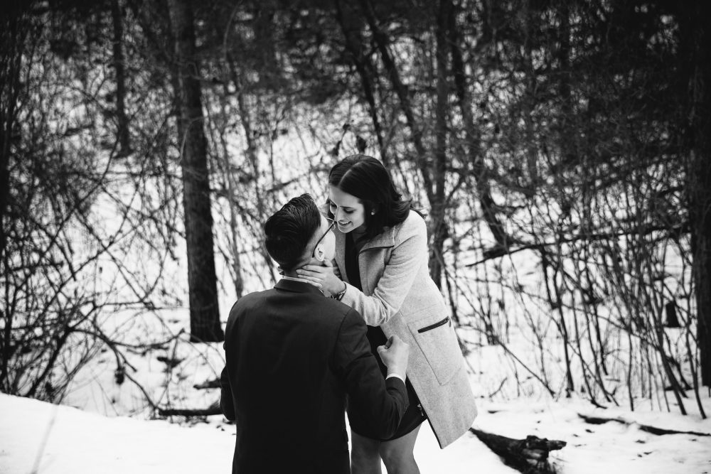 Beautiful Winter Proposal