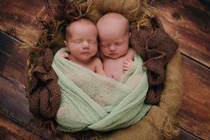 Textbook Twin Newborn Session Edmonton