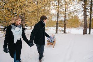 Sledding in an Edmonton Winter Wonderland