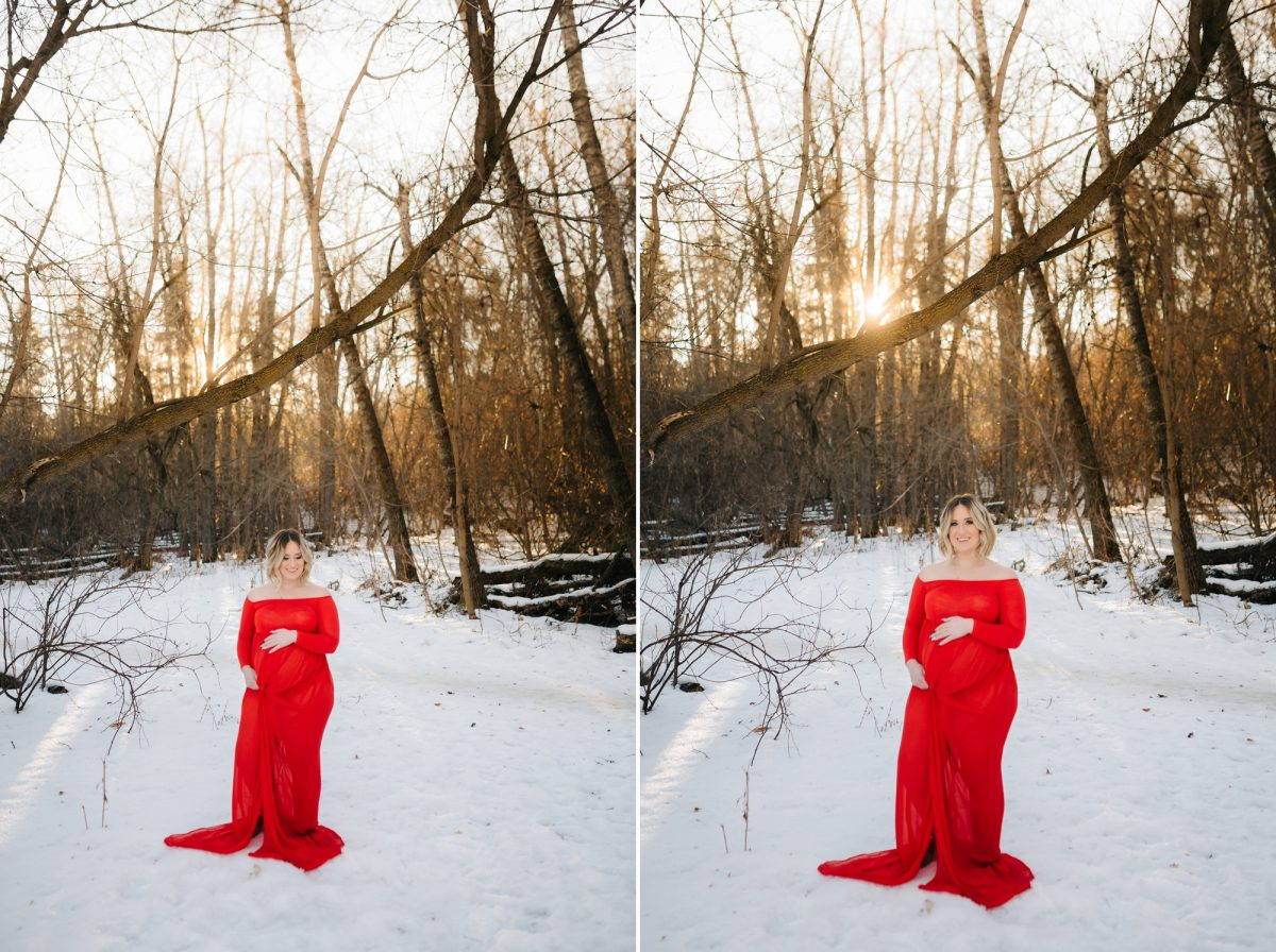 The Red Dress Edmonton Maternity