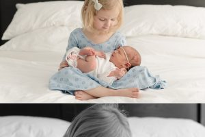 light and bright home newborn session