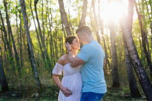Sunset Maternity Session at the Lake