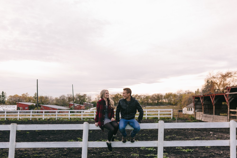 Edmonton Engagement Session at the Farm