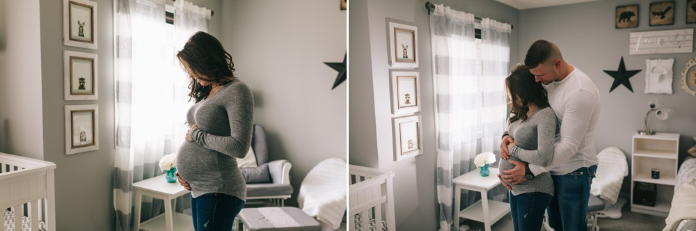 Shayla & Tyson's In Home Edmonton Lifestyle Maternity Photography