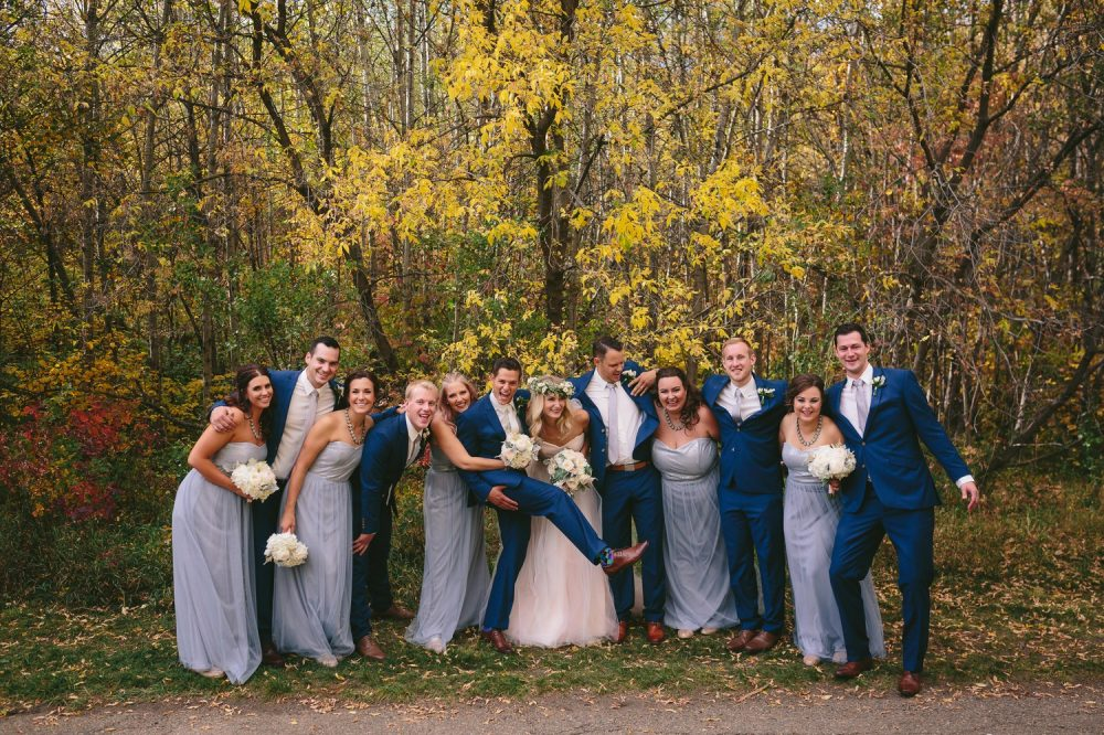 Intimate Fall Wedding in Edmonton