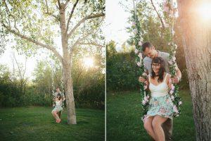 Sitting on a Tree Swing