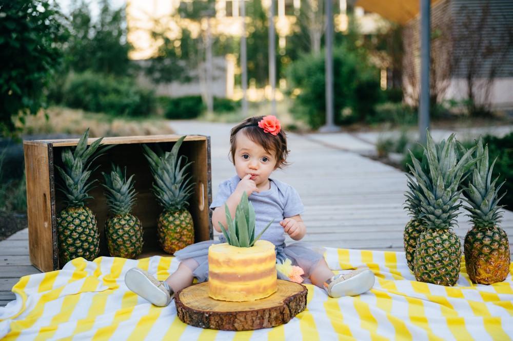 Pineapple Themed Cake Smash