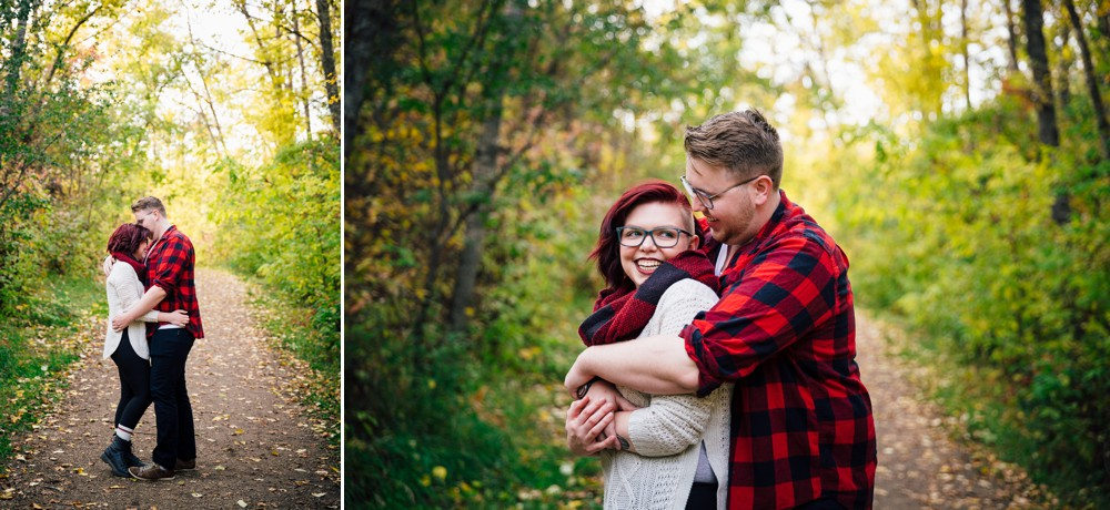 Fall Couple Photos with a Cute Pup