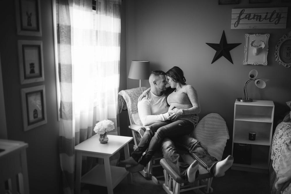 Shayla & Tyson's In Home Edmonton Lifestyle Maternity Photography