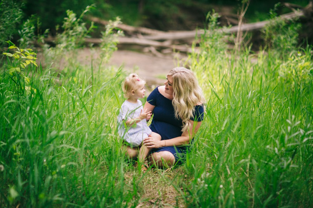 Summer Maternity Session in Millcreek Ravine