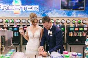 Roughley Originals Wedding Photography. Wedding day slurpees.